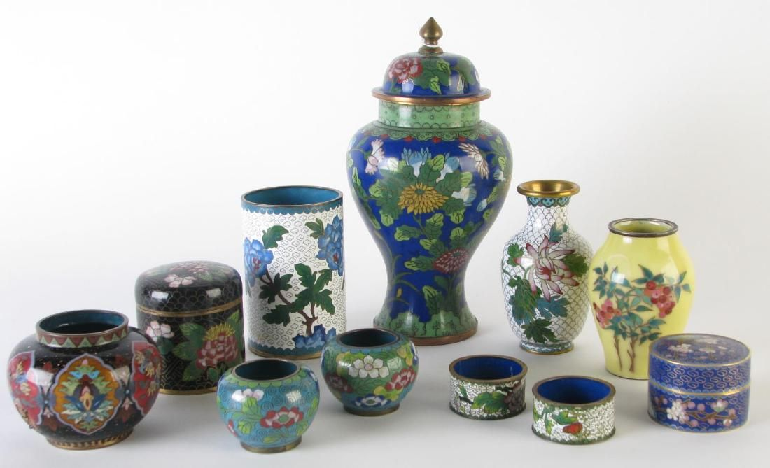 Group of Oriental Cloisonne