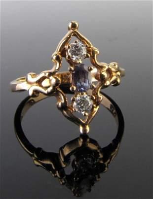 18K Rose Gold Mark Henry Alexandrite, Diamond Ring