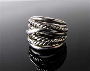 David Yurman Sterling Multi-Cable Crossover Ring