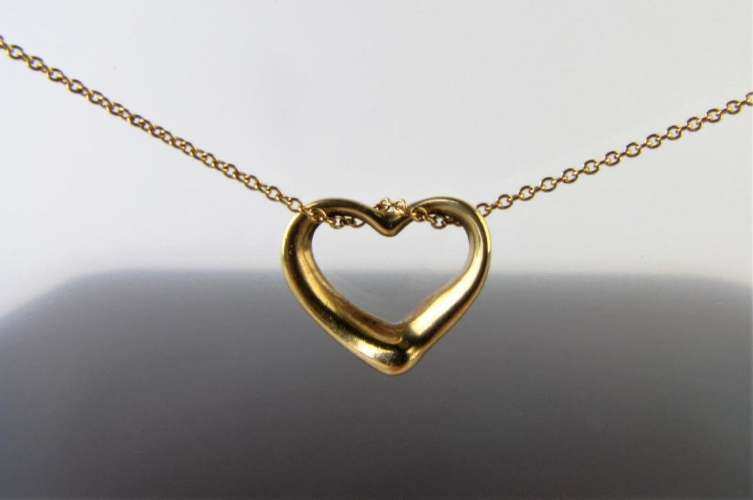 97d640fad Elsa Peretti 18K Gold Tiffany Heart Necklace - Feb 23, 2019 ...