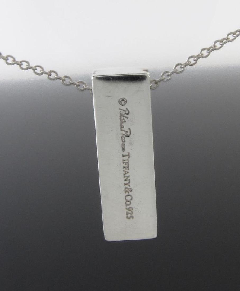 Tiffany & Co. Sterling Silver Diamond Bar Necklace - 2