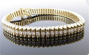 14K Yellow Gold Diamond Line Bracelet