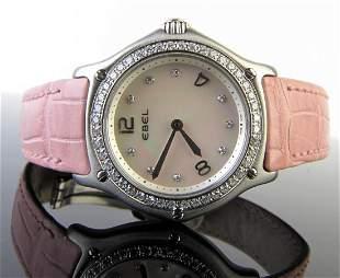 Ebel 1911 Diamond Bezel Wristwatch