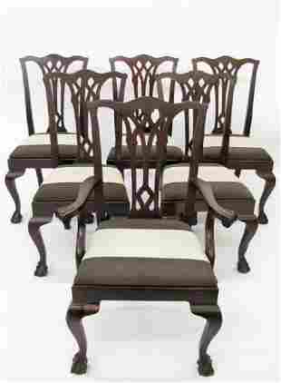 Set of 6 Chippendale Style Dining Chairs
