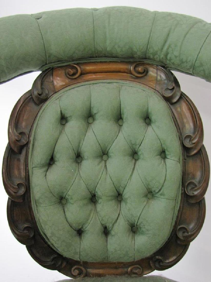 Antique Victorian Arm Chair, Rosewood - 7