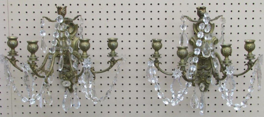 Pair of Brass Wall Sconces