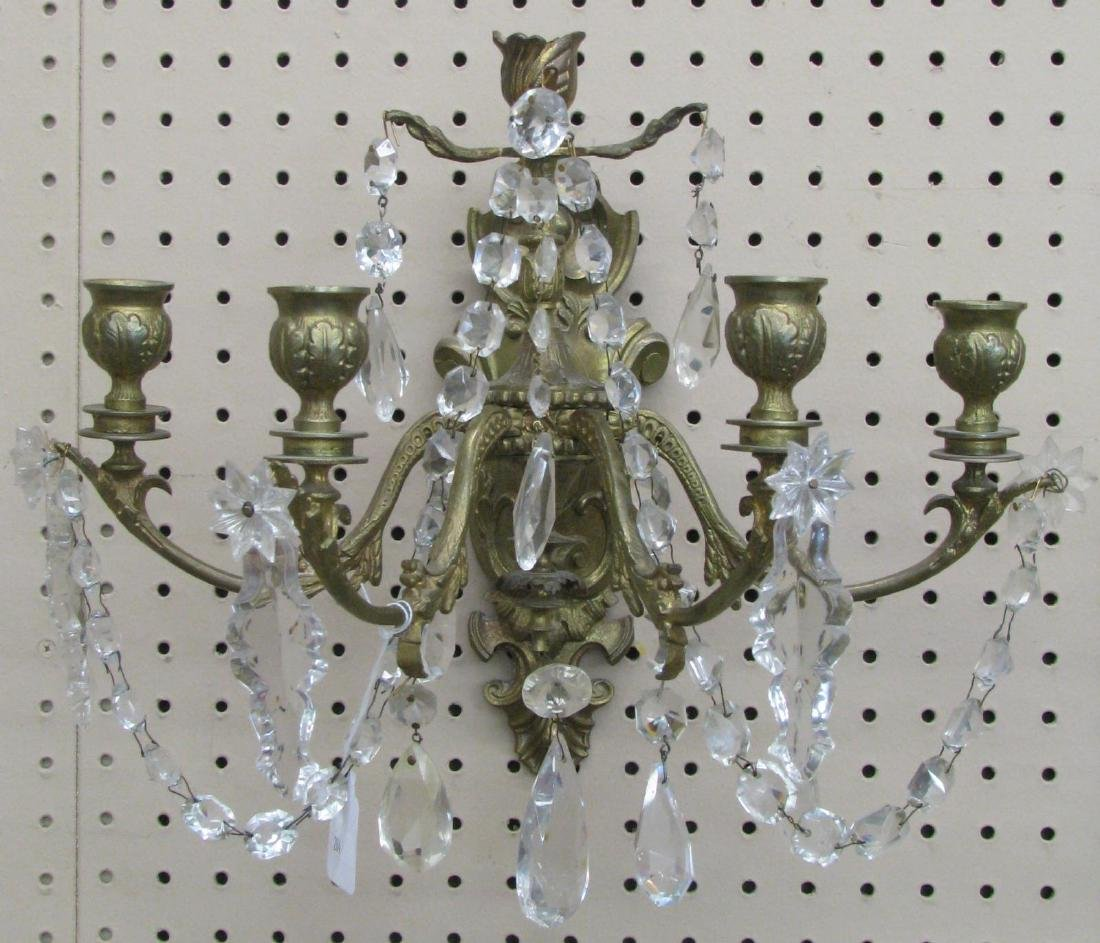 Pair of Brass Wall Sconces - 2