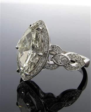 18K White Gold 2.33ct Marquis Diamond Ring