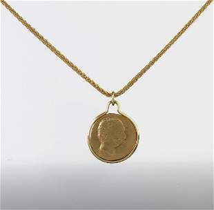14K Yellow Gold Silhouette Charm Necklace
