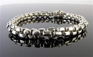 John Hardy Sterling Heavy Box Link Bracelet