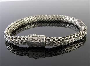 John Hardy Sterling Silver Woven Braid Bracelet