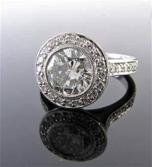 Platinum Diamond Ring, 2CT