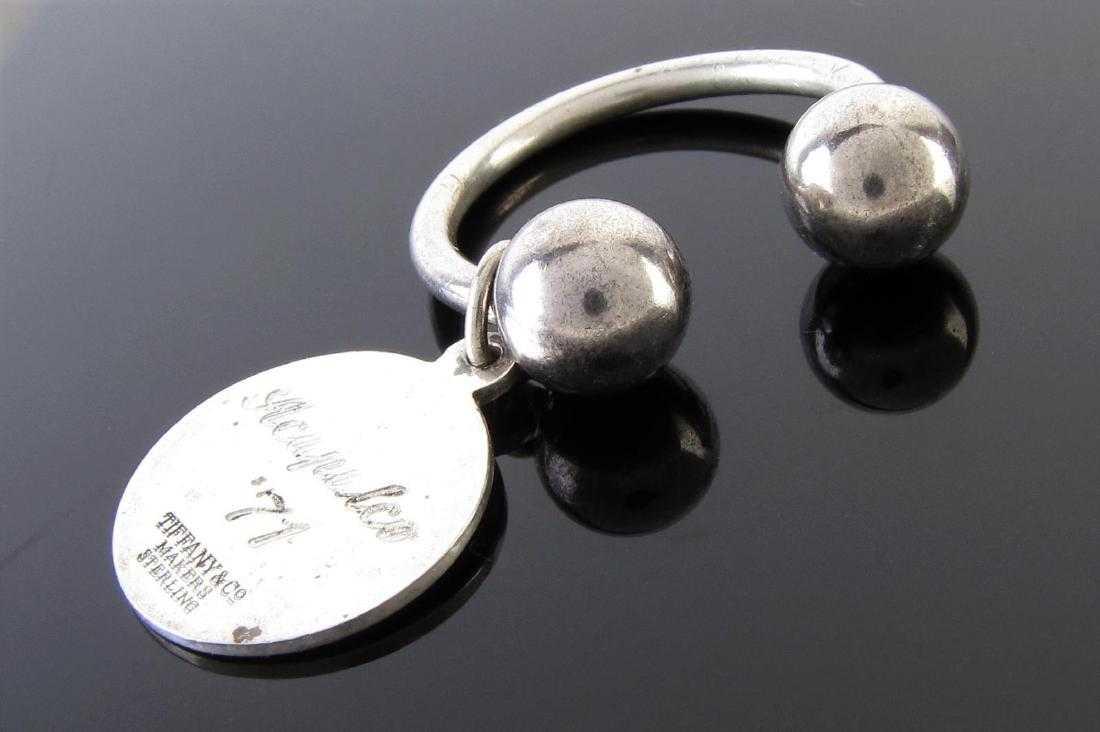 14a66439a Vintage Tiffany & Co. Round Tag Key Ring