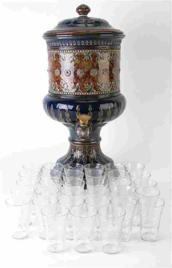 Royal Doulton Lambeth Stoneware Schnapps Set