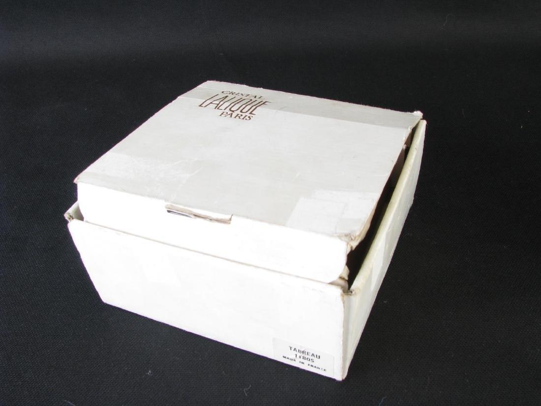 Lalique Crystal 'Taureau' and Durand Eagle Figure - 5