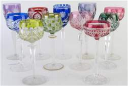 Group of Bohemian Cut-To-Clear Stemware