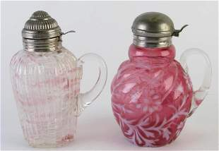 Two Victorian Glass Syrups