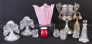 Group of Decorative Glass Accessories
