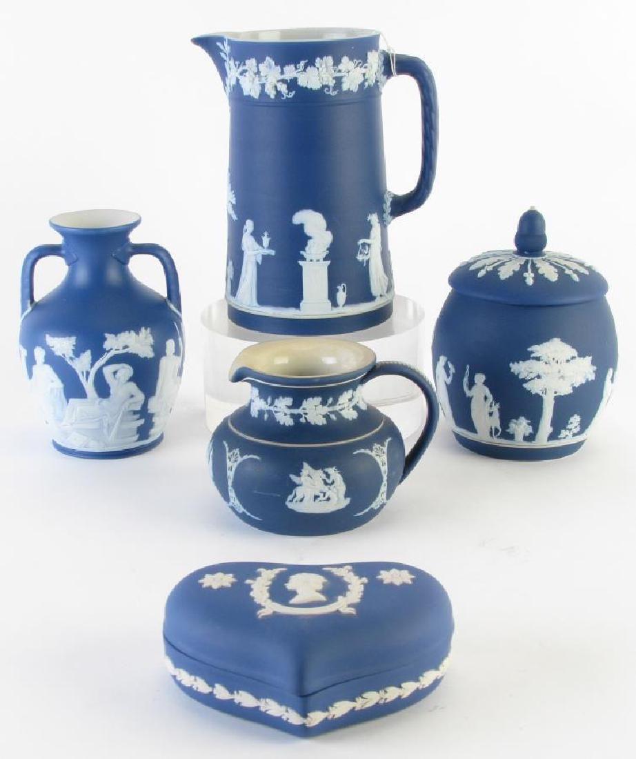 Group of Wedgwood Blue Jasperware Porcelain