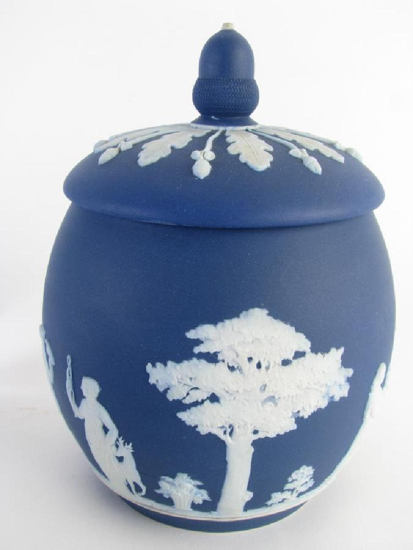 Group of Wedgwood Blue Jasperware Porcelain - 3