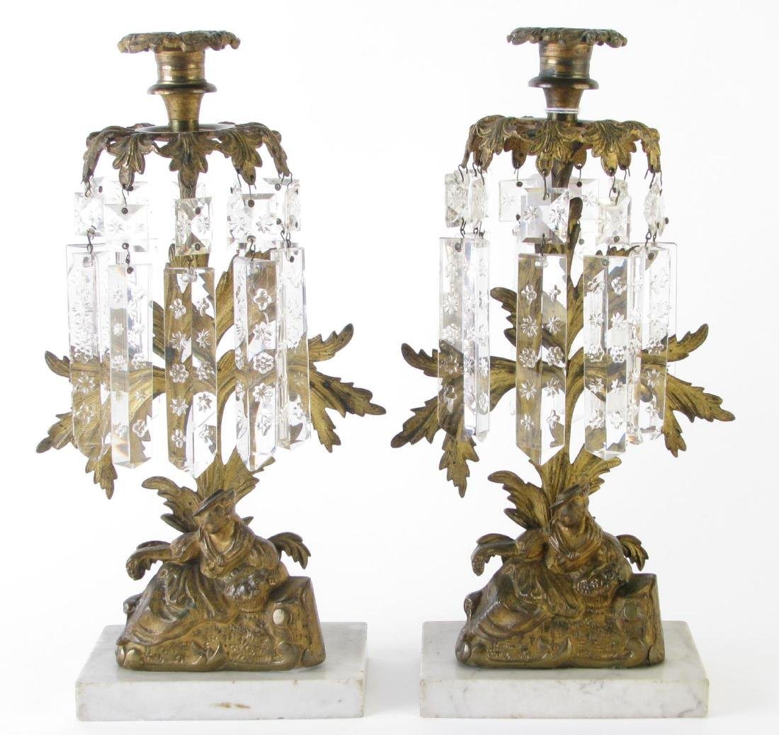 Pair of Figural Girandole