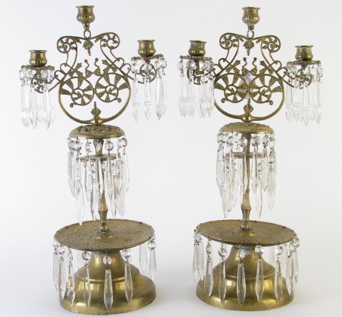 Pair of Brass Girandole