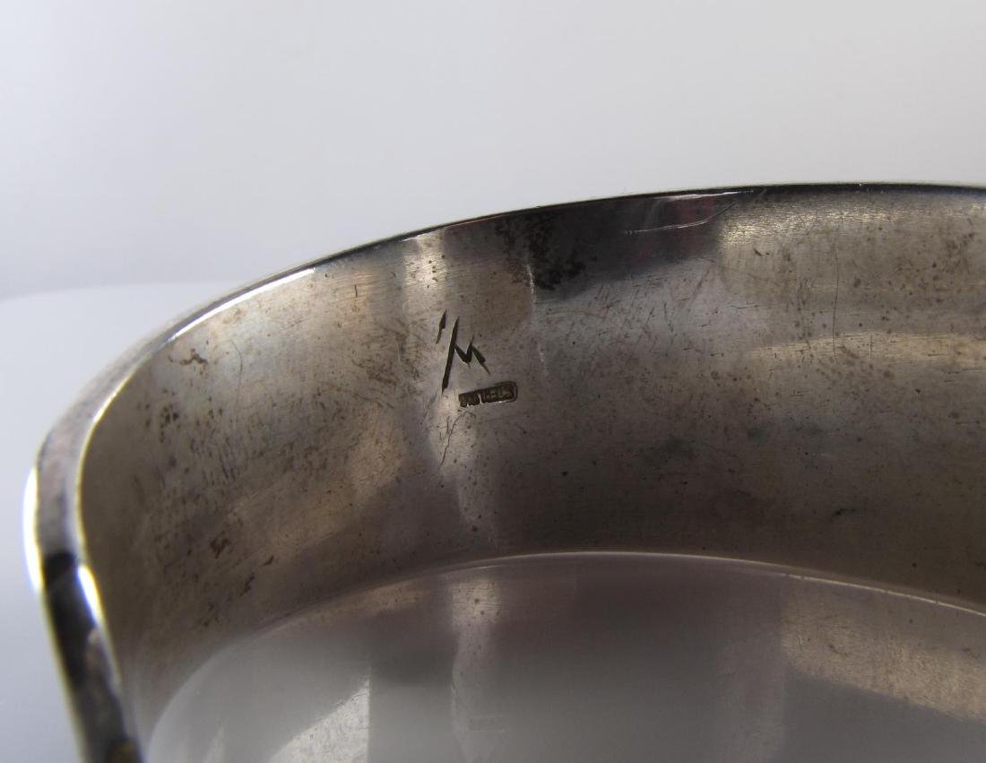 A Heavy Sterling Silver Etched Cuff - 2
