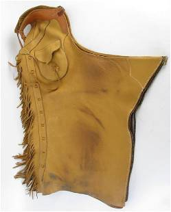 Western Leather Batwing Chaps