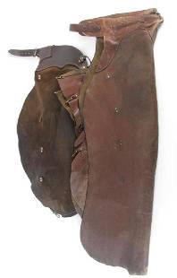 Two Pair of Leather Batwing Chaps