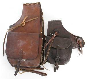 Two Pair of Leather Western Saddle Bags