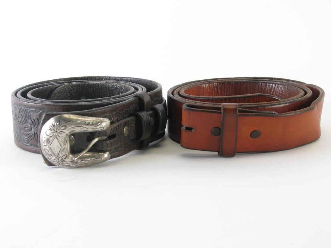 Four Leather Belts - 10