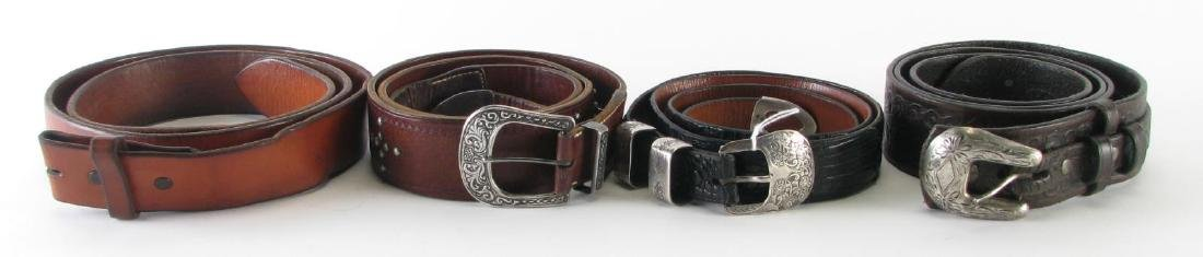 Four Leather Belts