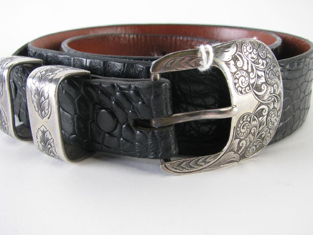 Four Leather Belts - 2
