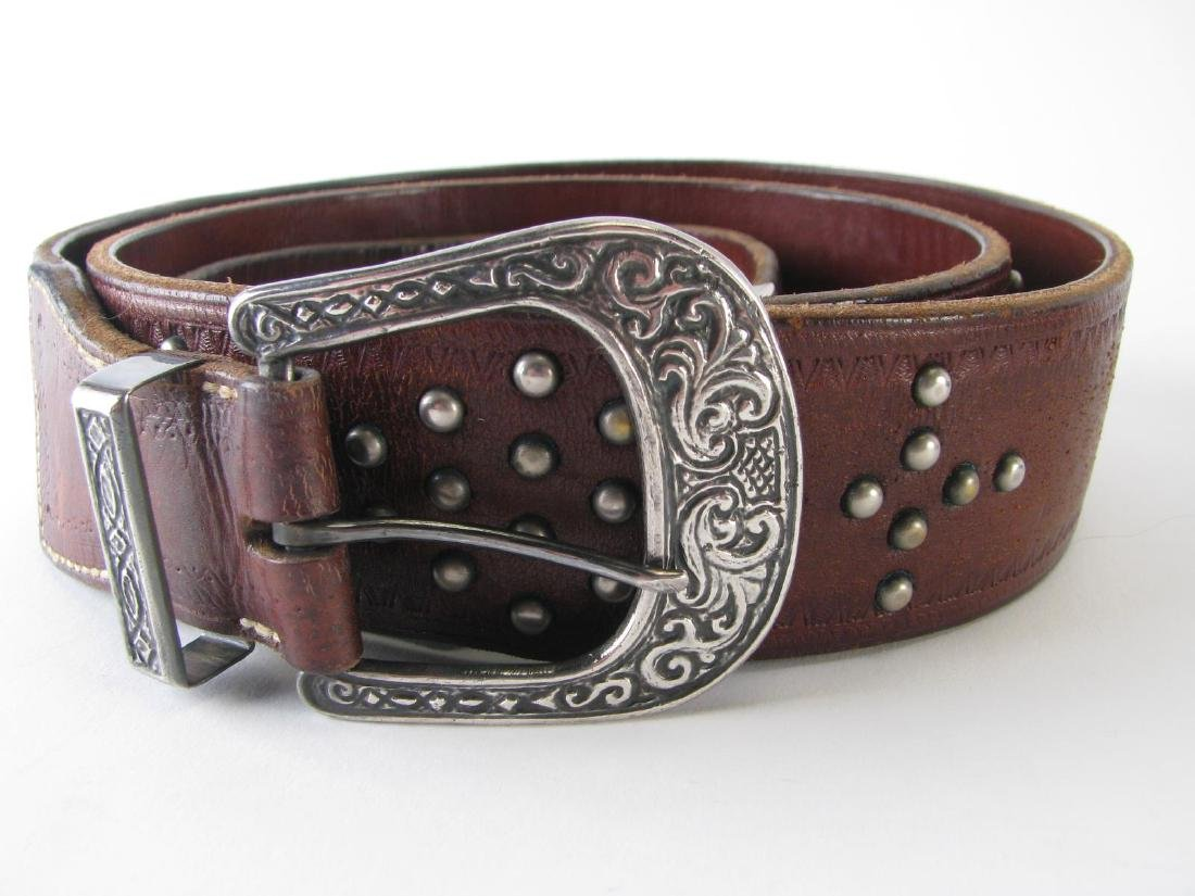 Four Leather Belts - 3