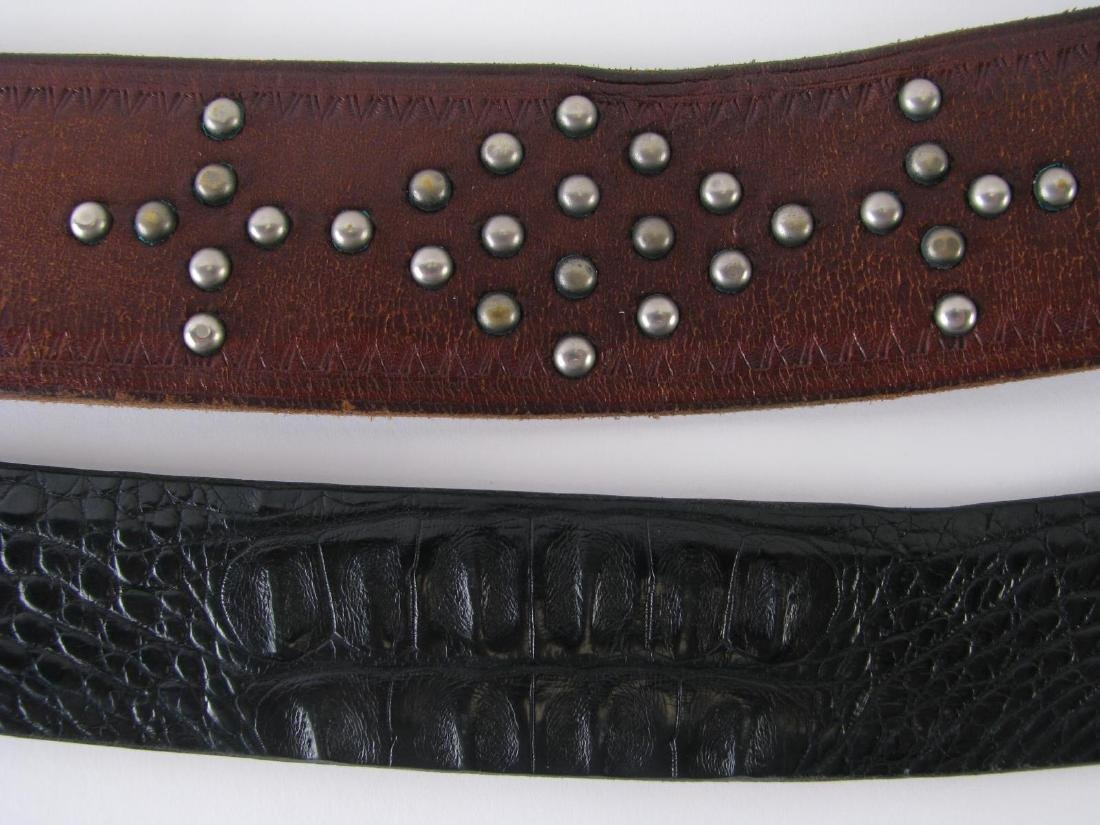 Four Leather Belts - 6