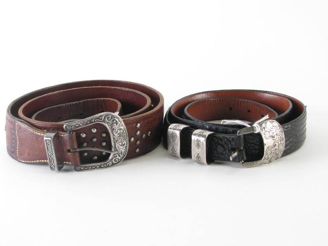 Four Leather Belts - 9