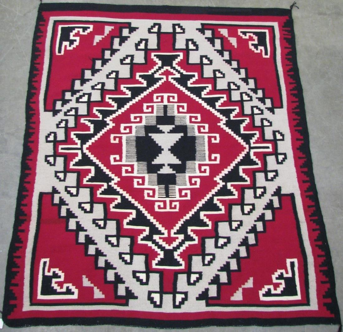 Handmade Navajo 'Ganado' Area Rug - 2