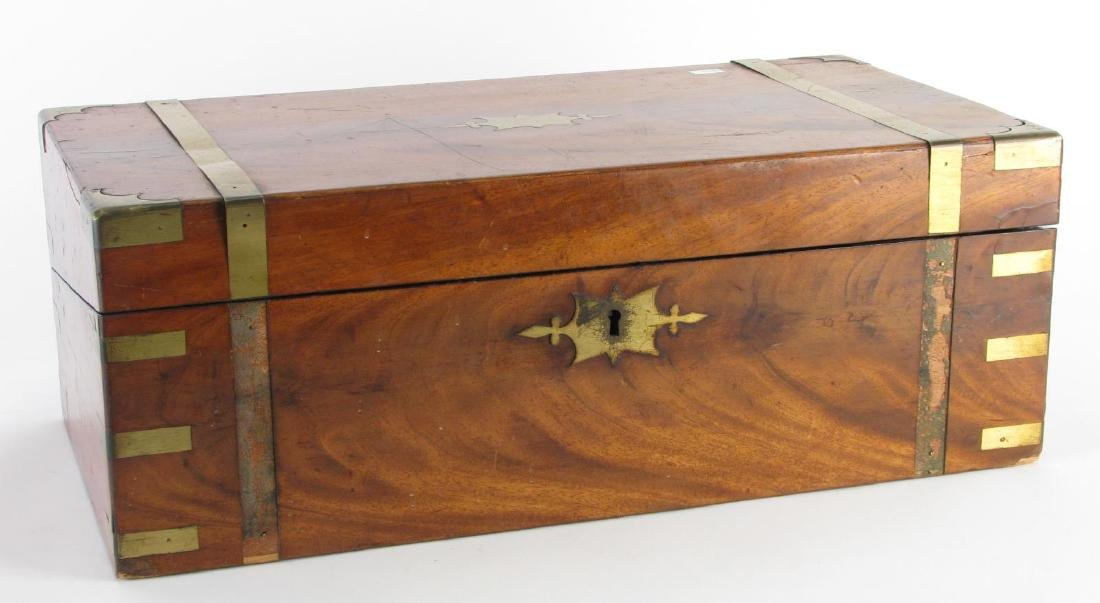 Antique Wood and Brass Lap Desk