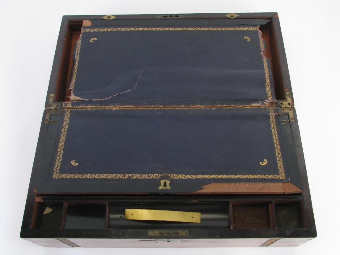 Antique Wood and Brass Lap Desk - 3