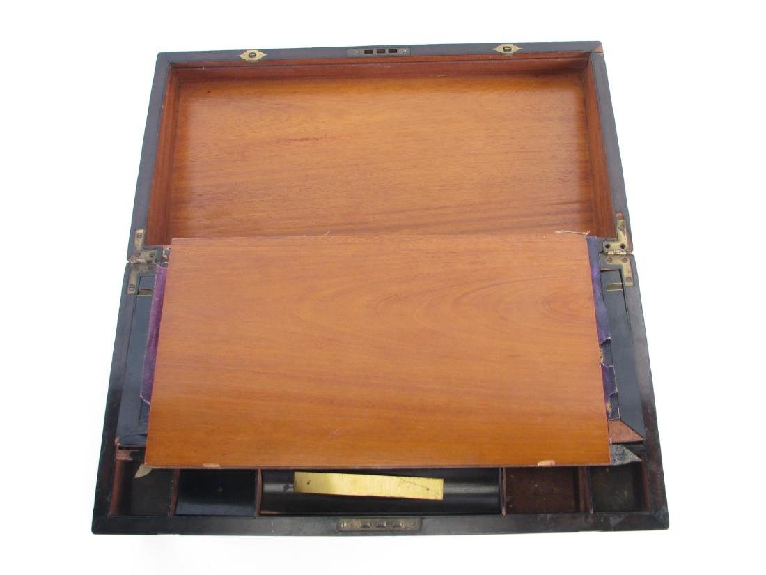 Antique Wood and Brass Lap Desk - 5