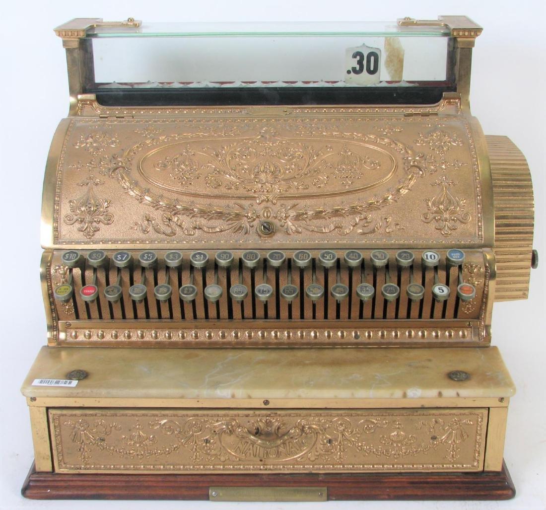 Antique Brass National Cash Register