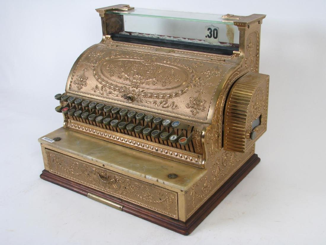 Antique Brass National Cash Register - 2