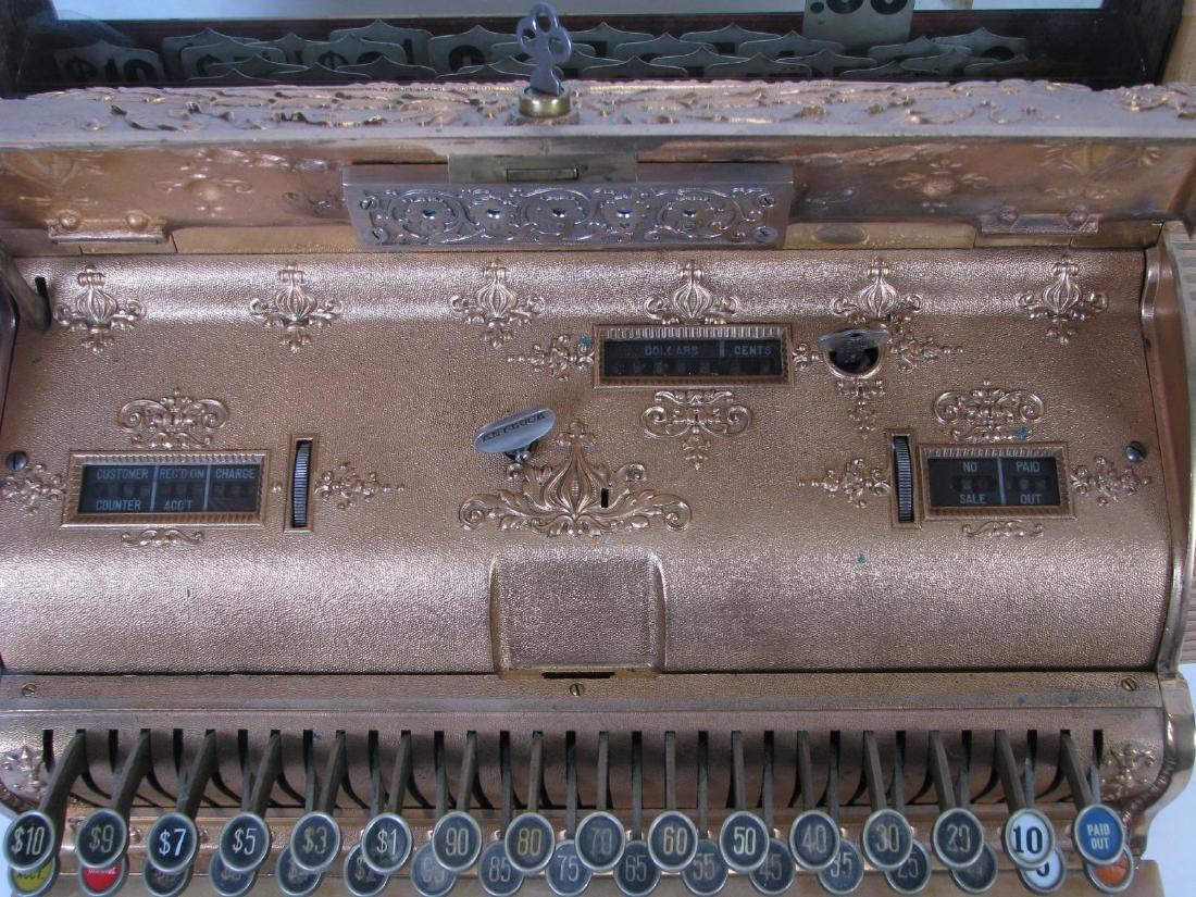 Antique Brass National Cash Register - 3