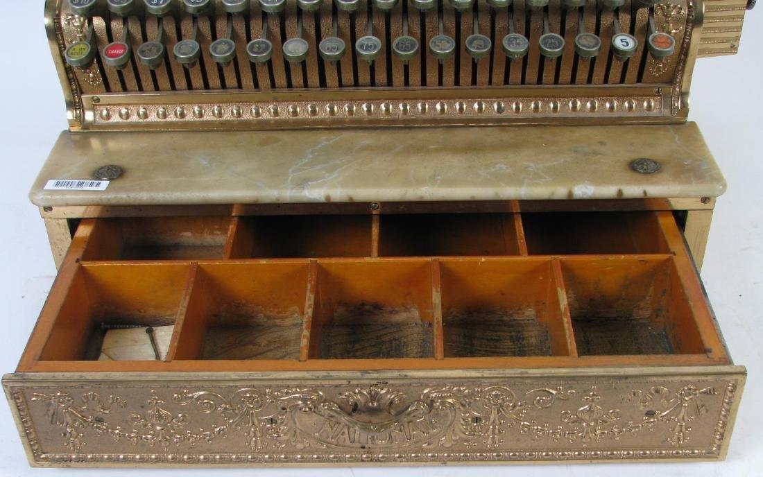 Antique Brass National Cash Register - 4