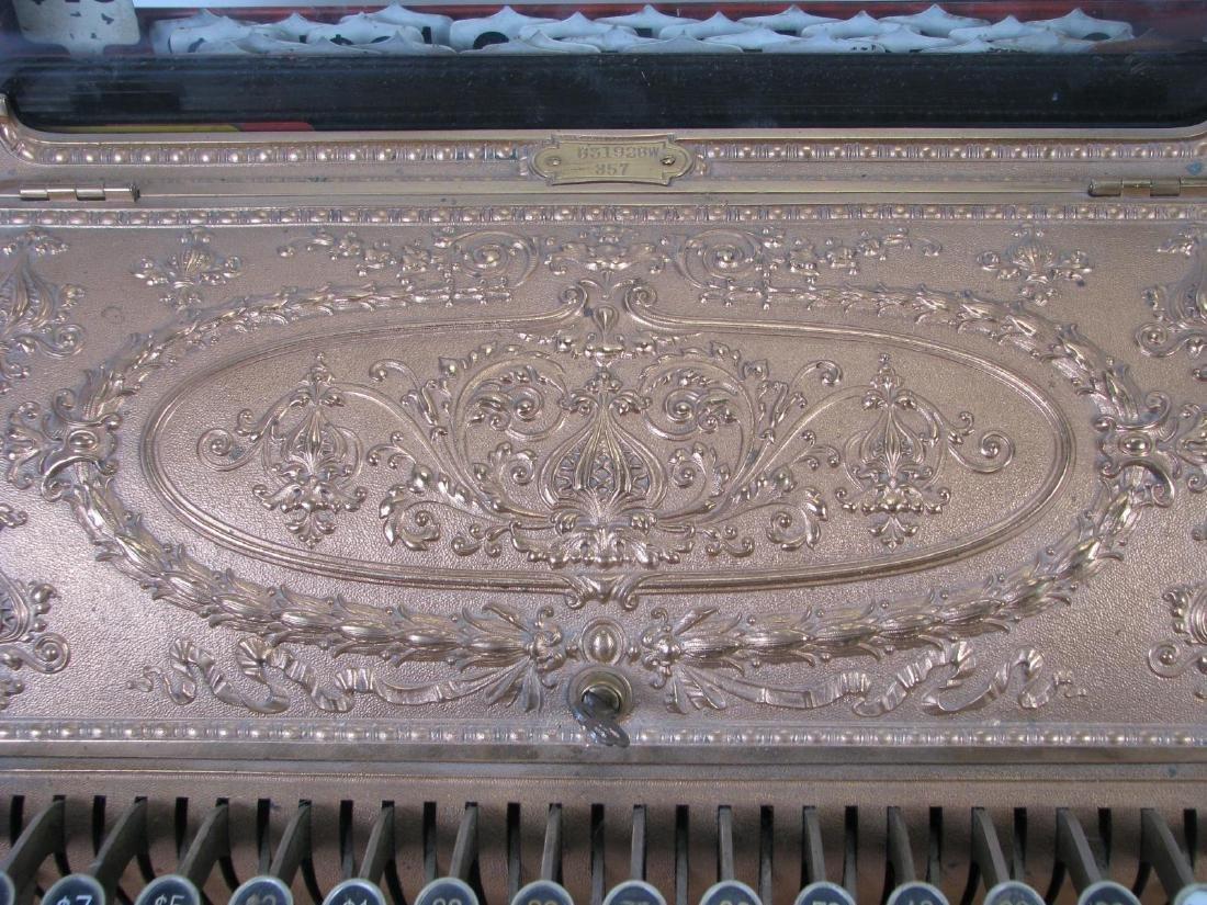 Antique Brass National Cash Register - 5