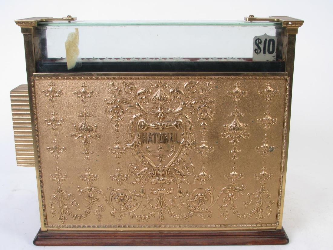 Antique Brass National Cash Register - 7