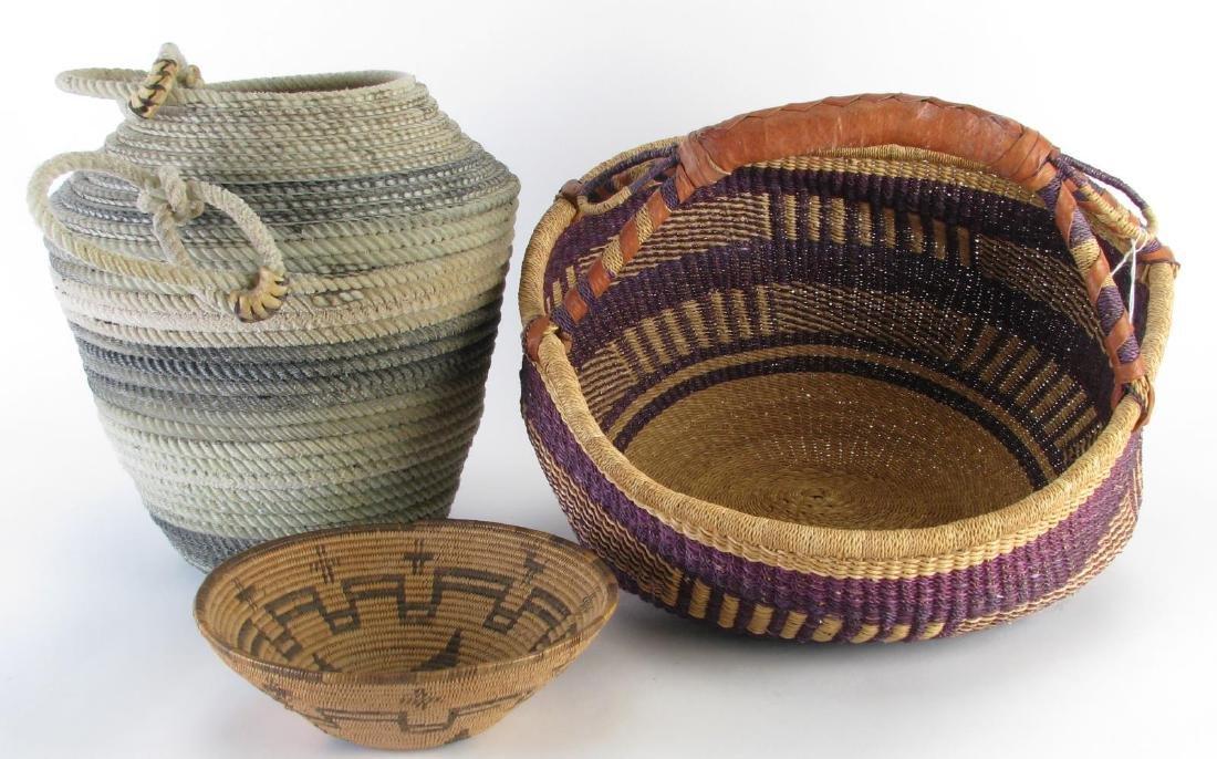 Handmade Baskets and Bowl