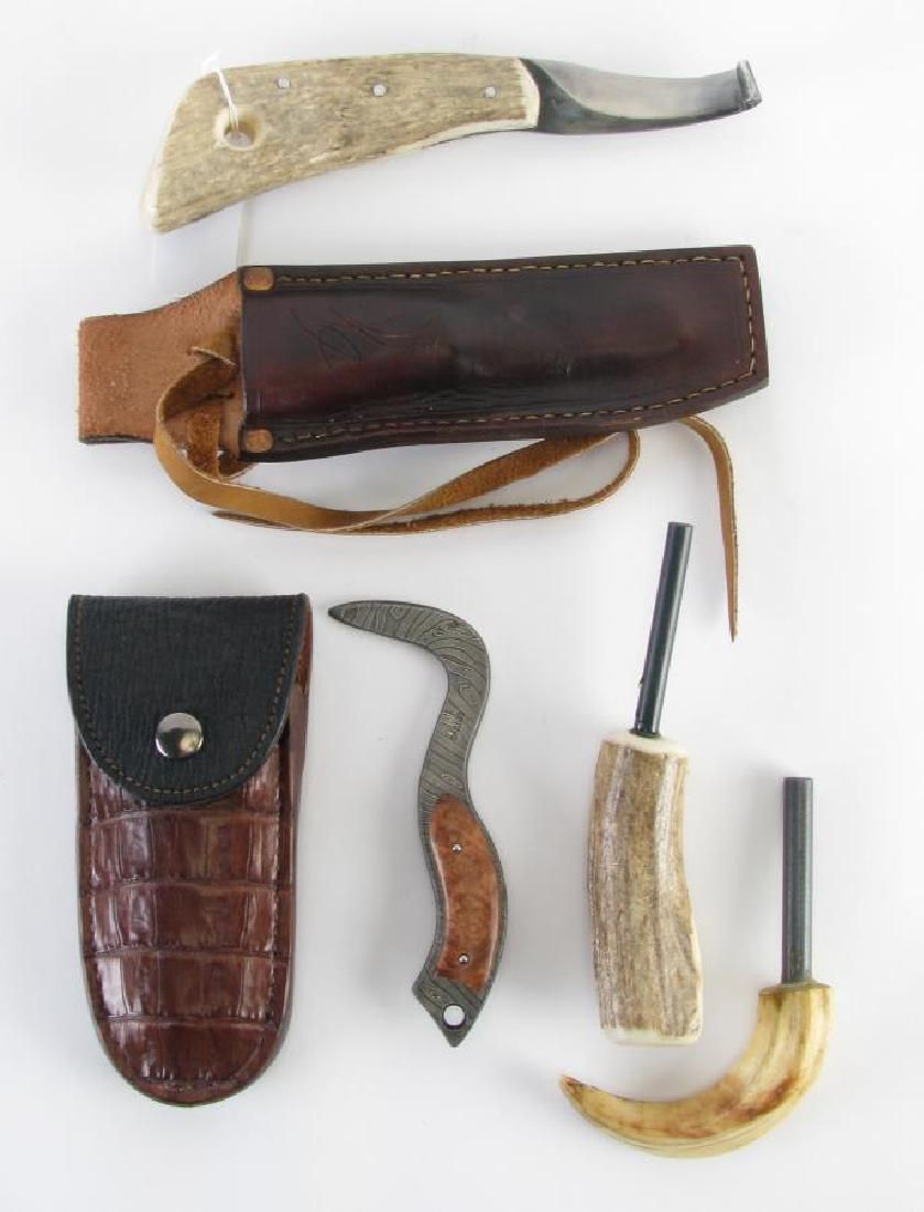 Hoof Knife and Pick, Antler and Claw Strikers