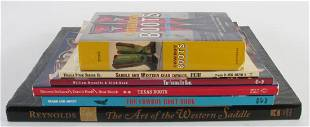 Group of Cowboy Boot Hat and Saddle Books