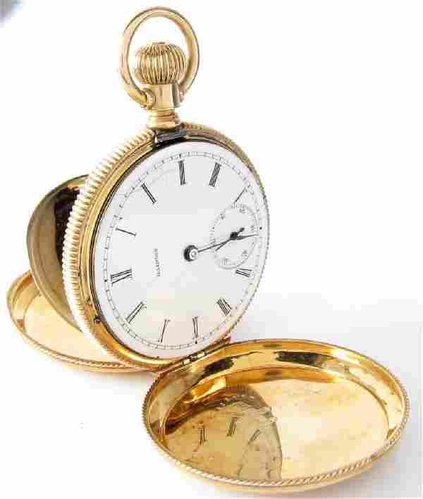 Illinois Model 1 Lady's Pocket Watch, 14K Dueber